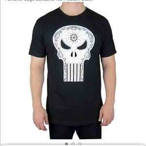 Marvel Punisher Logo Bandana Tee Large